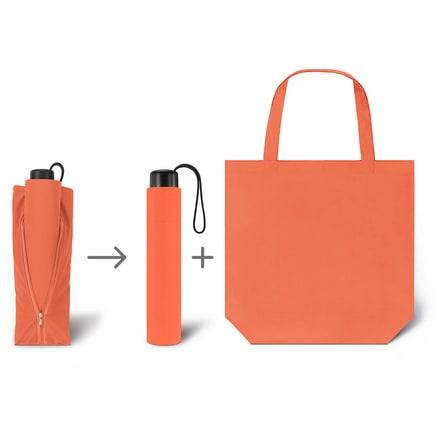 Werbeartkel individuell bedruckbar Regenschirm Super Mini & Shopper orange Taschenschirm