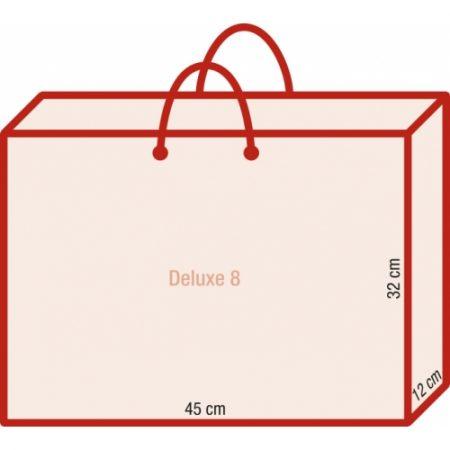 Werbeartikel Papiertragetasche bedruckbar exklusiv rundumbedruckbar Kordeln laminiert