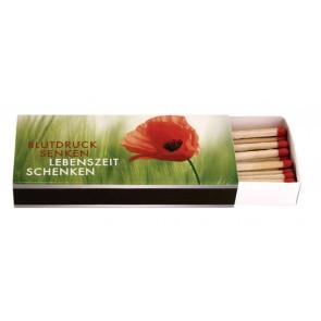 Werbeartikel Streichholzschachteln Streichhölzer Zündhölzer individuell bedruckbar Langstreichholzschachteln Kaminzünder