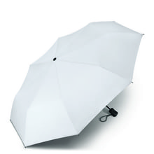 Werbeartikel Regenschirm Taschenschirm individuell bedruckbar weiss